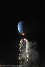 Firework at the bottom of the Balloon starting, Taunggyi