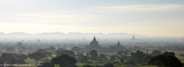 Morning mist in Bagan