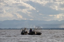 Fishermen in the evening hours, Inle Lake, Myanmar