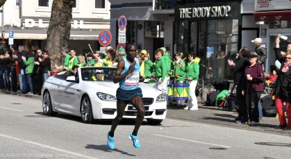 The Winner of the 2013 Hamburg Marathon