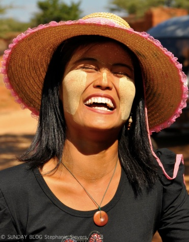 Laughing women in Myanmar