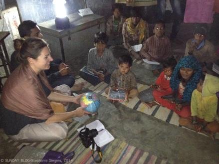 Visiting Kids at Barefoot Night School