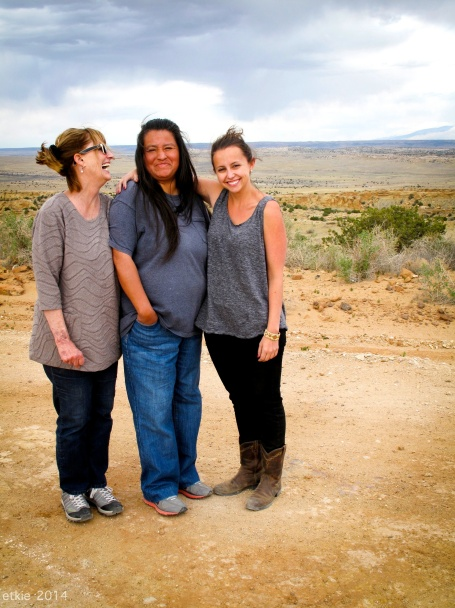 Sydney Alfonso, her Mum and one of the native women from NM