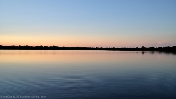 Pantanal - Lake at Sunset